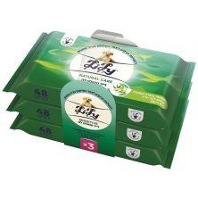 נייר טואלט לח Natural Care לילי אריזת שלישייה