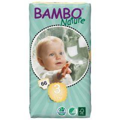 חיתולי תינוקות חד-פעמיים אקולוגיים Bambo Nature שלב 3