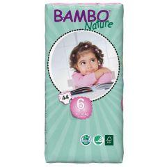 חיתולי תינוקות חד-פעמיים אקולוגיים Bambo Nature שלב 6