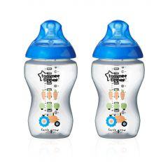 """2 בקבוקים מאויירים בנים 340 מ""""ל ללא ביספינול Tommee Tippee"""