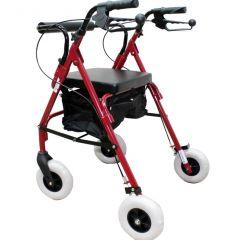 רולטור מתקפל 4 גלגלים אדום