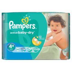חיתולים שלב 4+ פמפרס Pampers active baby-dry