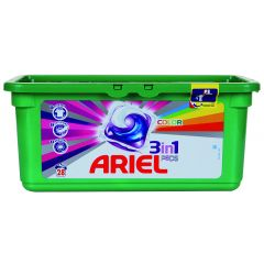קפסולות ג'ל לכביסה 3 ב-1 אריאל
