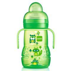 בקבוק אימון מאמ לגילאי 4 חודשים+ 220 מ׳׳ל צבע ירוק MAM Sippy Cup Trainer
