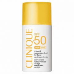 """קליניק תכשיר הגנה לפנים 30 מ""""ל Clinique SPF50 Mineral Fluid For Face"""