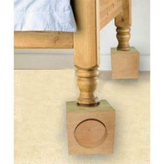 רגליות הגבהה למיטה מעץ בגדלים שונים