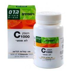 הדס ויטמין 1000 C לא חומצי 100 קפליות