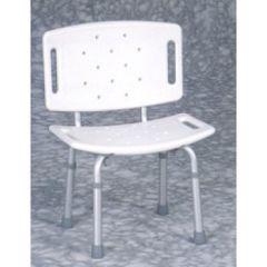 כסא רחצה טלסקופי עם משענת