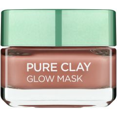 מסכת זוהר עם גרגירים  L'OREAL PURE CLAY GLOW