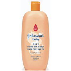 ג'ונסונס בייבי אל סבון וקצף אמבט 2 ב-1