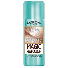 תרסיס צבע לכיסוי שורשי השיער בלונד בז' L'Oreal Magic Retouch Beige