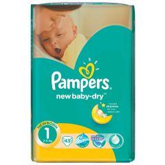 חיתולים שלב 1 Pampers new baby-dry