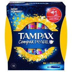 טמפונים עם מוליך רגולר TAMPAX Compak PEARL