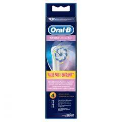 אורל בי ראש מילוי למברשת חשמלית 4 יחידות Sensitive clean Oral B