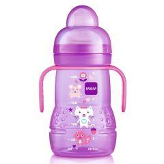 בקבוק אימון מאמ לגילאי 4 חודשים+ 220 מ׳׳ל צבע ורוד MAM Sippy Cup Trainer