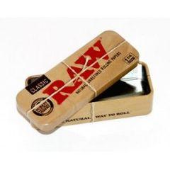 RAW קופסה פח לאחסון מוצרים בגודל אחד ורבע