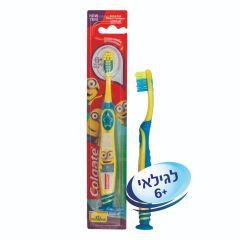 מברשת שיניים מיניונים לילדים מגיל 6+ קולגייט Colgate