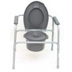 כסא שירותים עם דלי ומכסה