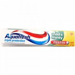 """משחת שיניים אקווה פרש עדין 125 מ""""ל Aqua Fresh"""