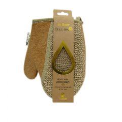 ספוג כפפה לאמבט מפנק בצבע חום LA BELLA GOLD SPA
