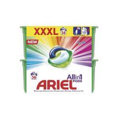 אריאל קפסולות ג'ל לכביסה בניחוח לנור 56 קפסולות ARIEL 3 in 1