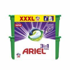 אריאל קפסולות ג'ל לכביסה בניחוח אביב הרים 56 קפסולות ARIEL 3 in 1