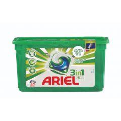 אריאל קפסולות ג'ל לכביסה ARIEL 3 in 1 - 40 קפסולות
