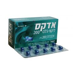 אדקס ADEX LIQUID GEL CAP 200MG