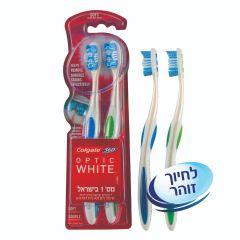 זוג מברשות שיניים קולגייט אופטיק וויט