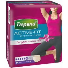 תחתוני נשים דמויי בד - M - דיפנד DEPEND Active Fit