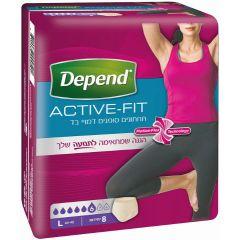 תחתוני נשים דמויי בד - L - דיפנד DEPEND Active Fit