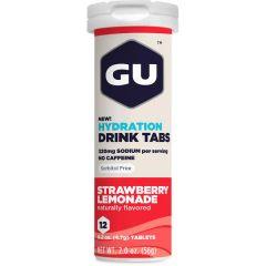 12 טבליות מלחים  מתמוססות במים בטעם תות-לימונדה GU