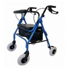 רולטור מתקפל 4 גלגלים כחול