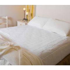 """ברולי סדינית מגן למיטה זוגית -  קווין 155 ס""""מ רוחב 95 ס""""מ אורך - לבן"""