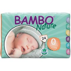 חיתולי תינוקות חד-פעמיים אקולוגיים Bambo Nature שלב 0
