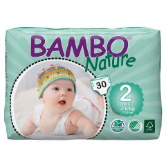 חיתולי תינוקות חד-פעמיים אקולוגיים Bambo Nature שלב 2