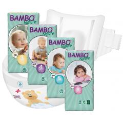 חיתולי תינוקות חד-פעמיים אקולוגיים Bambo Nature שלבים 3 - 6
