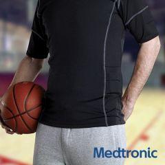 חולצת ספורט מנדפת זיעה לגברים של COOLMAX  מדטרוניק מידות M/L  Medtronic Breathable COOLMAX Fabric Sports Shirt