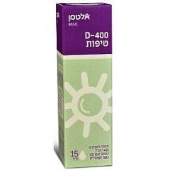 """אלטמן ויטמין D-400 טיפות לשתיה 15 מ""""ל"""