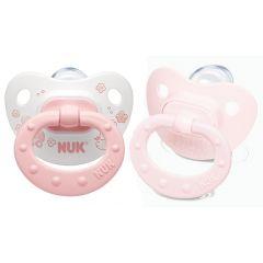 NUK - מוצצי סיליקון אורתודנטיים שלב 1 - בנות