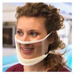 מסכה שקופה ClearMask המאפשרת קריאת שפתיים - ללא הצטברות אדים