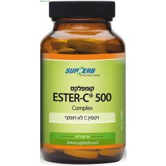 סופהרב ויטמין C לא חומצי 90 טבליות SupHerb Ester-C 500mg