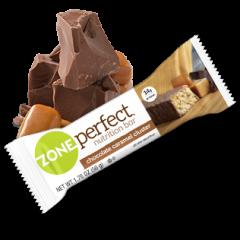 חטיף חלבון בטעם שוקולד קרמל ZONE perfect
