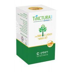 ויטמין C-500 לא חומצי 90 כמוסות - טינקטורה טק Tinctura Tech