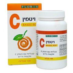 פלוריש ויטמין C-500 בייסיק 100 טבליות