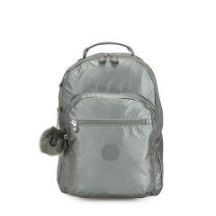 תיק גב CLAS SEOUL - אפור מטאלי - 25 ליטר - קיפלינג Kipling