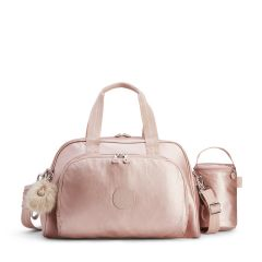 תיק החתלה קיפלינג 22 ליטר Kipling CAMAMA - METALLIC BLUSH  ורוד מטאלי