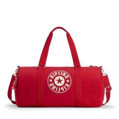 תיק ספורט גדול קיפלינג Kipling ONALO L - LIVELY RED אדום תוסס