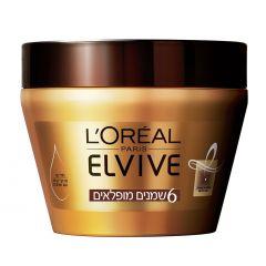 מסכה לשיער יבש 6 שמנים מופלאים L'Oreal Elvive