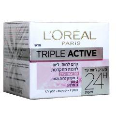 קרם לחות יום לעור יבש פעולה משולשת L'OREAL Triple Active